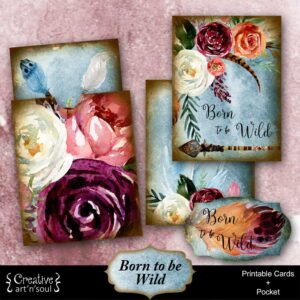 Born To Be Wild Printable Journal Cards and Pocket