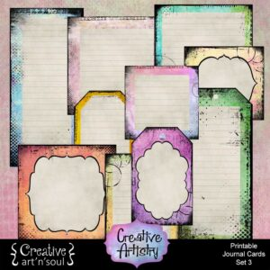 Creative Artistry Printable Journal Cards