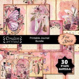 Free Spirit Printable Junk Journal Bundle