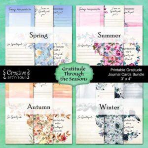 Gratitude Through the Seasons Printable Cards