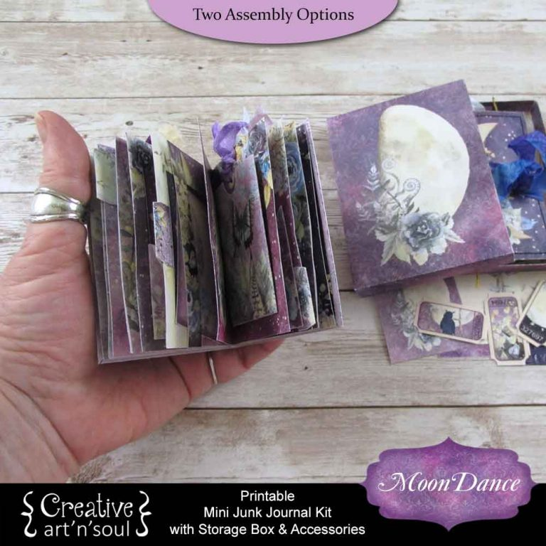 Moondance Printable Mini Junk Journal