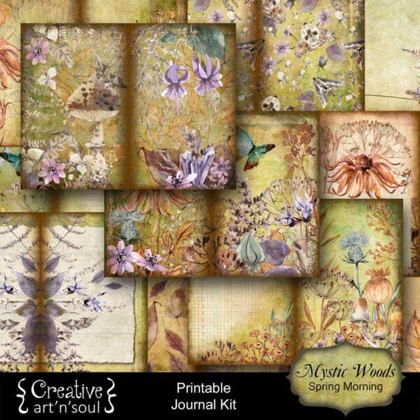 Mystic Woods Printable Junk Journal: Spring Morning