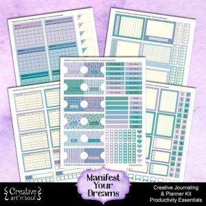 Manifest Your Dreams Printable Journal Planner: Productivity Essentials
