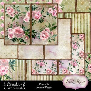 Pink Roses Printable Journal Pages