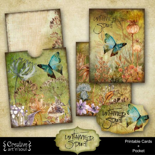 Untamed Spirit Printable Journal Cards and Pocket