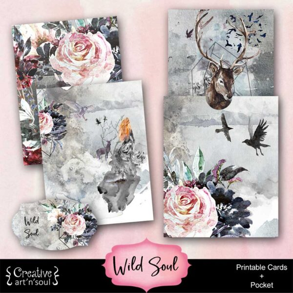 Wild Soul Printable Journal Cards and Pocket