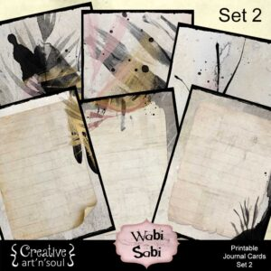 Wabi Sabi Printable Journal Cards