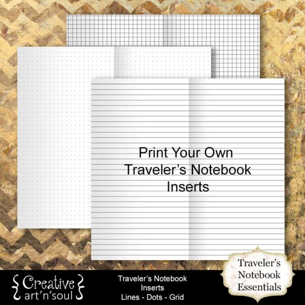 Printable Traveler's Notebook Essentials