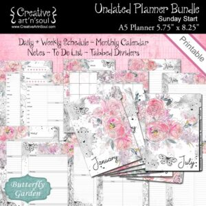 Butterfly Garden Printable Planner
