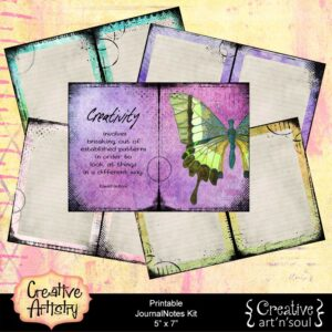 Creative Artistry Printable JournalNotes