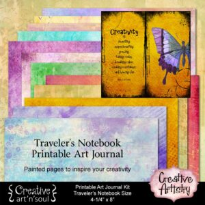 Creative Artistry Printable Traveler's Notebook Art Journal