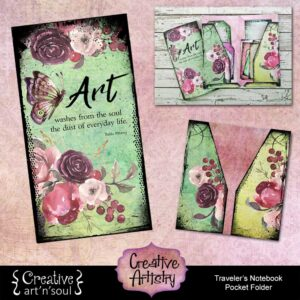 Creative Artistry Printable Traveler's Notebook Pocket Folder