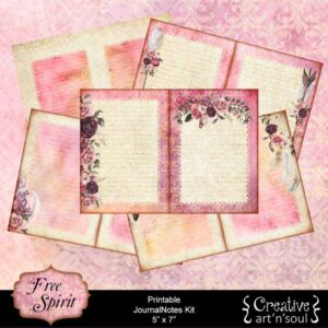 Free Spirit Printable JournalNotes