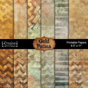 Gold Patina Printable Paper