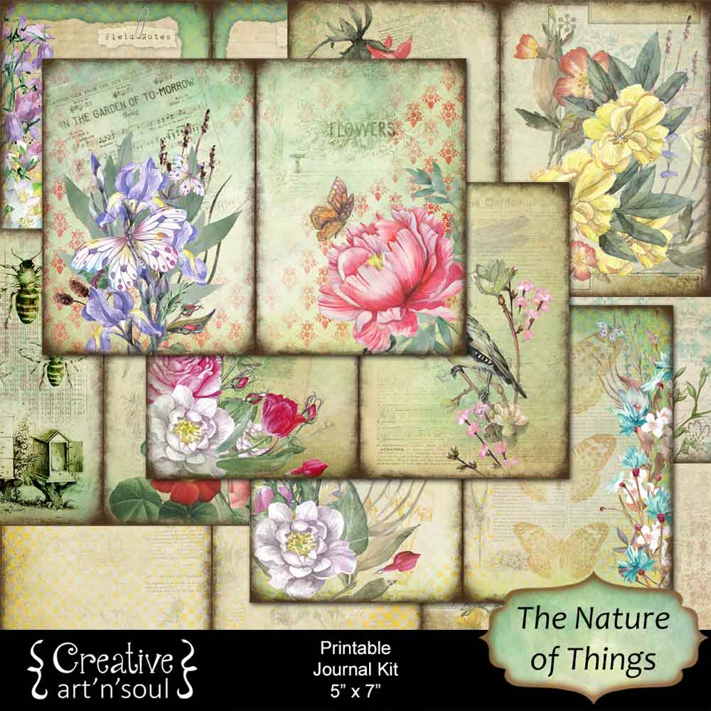 The Nature of Things Junk Journal and Free Printables