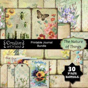 The Nature of Things Printable Junk Journal Bundle