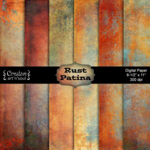 Rust Patina Printable Paper