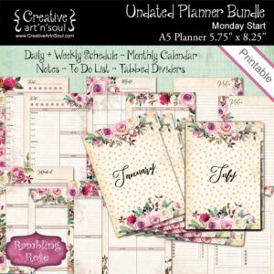 Rambling Rose Printable Planner