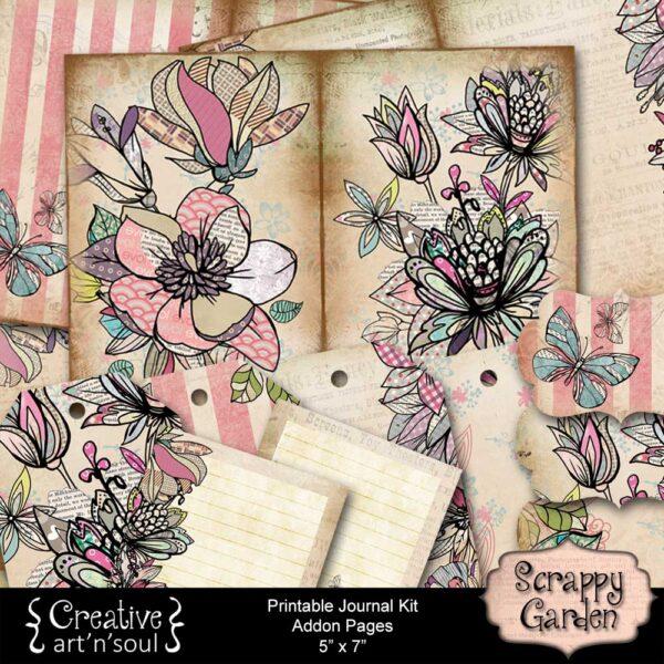 Scrappy Garden Printable Junk Journal