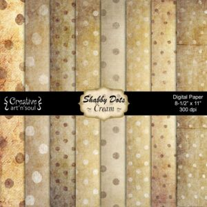 Shabby Dots Cream Printable Paper