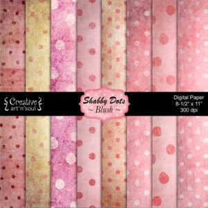 Shabby Dots Blush Printable Paper