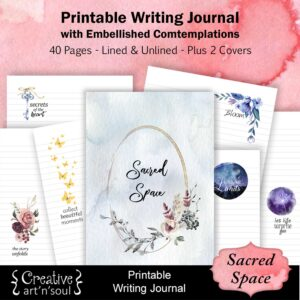 Sacred Space Printable Writing Journal