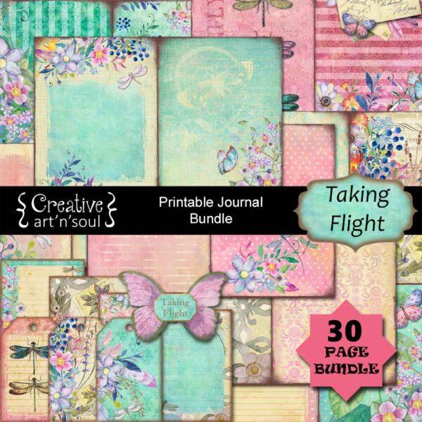 Taking Flight Printable Junk Journal Bundle