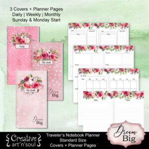Travelers Notebook Printable Planner Inserts