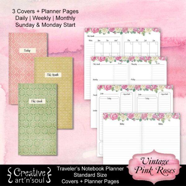 Travelers Notebook Printable Planner Inserts
