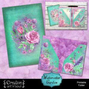 Watercolor Garden Printable Folder