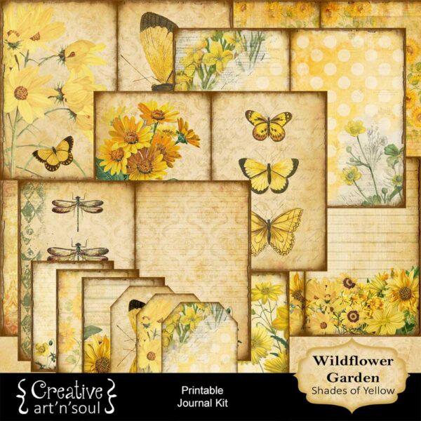 Wildflower Garden Printable Junk Journal: Shades of Yellow