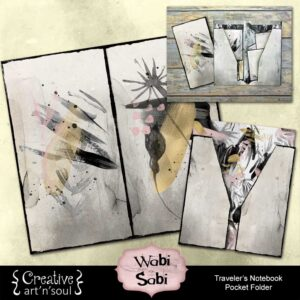 Wabi Sabi Printable Traveler's Notebook Pocket Folder