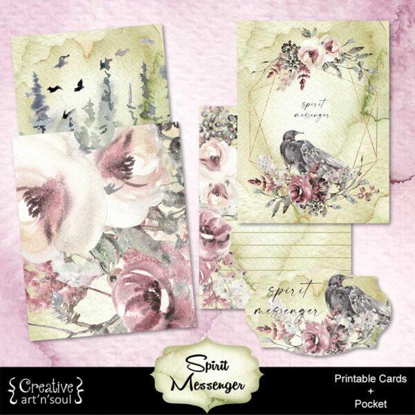 Spirit Messenger Printable Journal Cards and Pocket