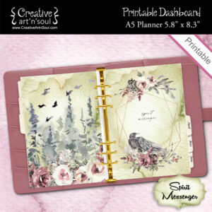 A5 Planner Printable Dashboard, Spirit Messenger