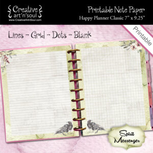 Spirit Messenger Happy Planner Classic Printable Note Paper