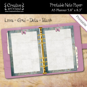Printable Note Paper, A5 Planner, Be The Change