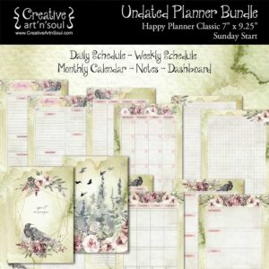Printable Planner Bundle, Happy Planner Classic, Spirit Messenger
