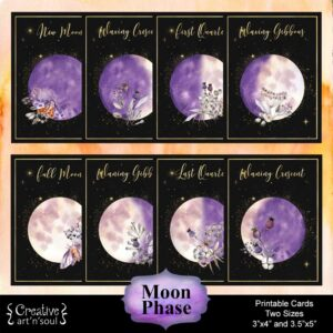 Moon Phase Printable Cards