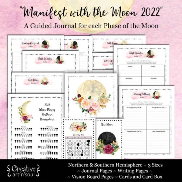 Manifest with the Moon Printable Journal Bundle
