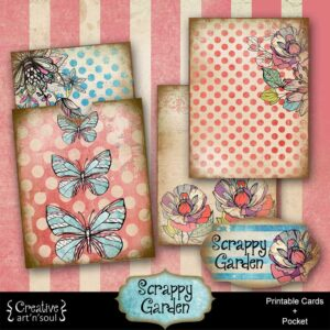 Scrappy Garden Printable Journal Cards and Pocket