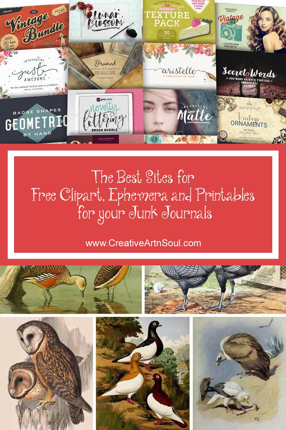 The Best Sites for Free Clipart, Ephemera and Printables for your Junk Journals and Art Journals