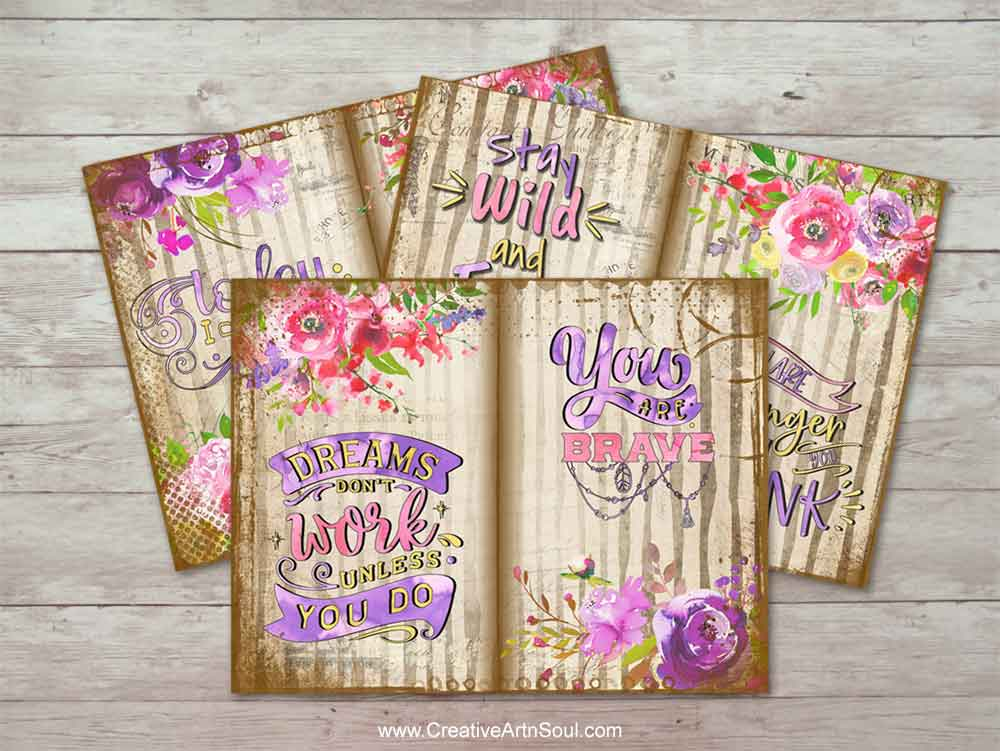 Inspirational Expressions Printable Journal Pages