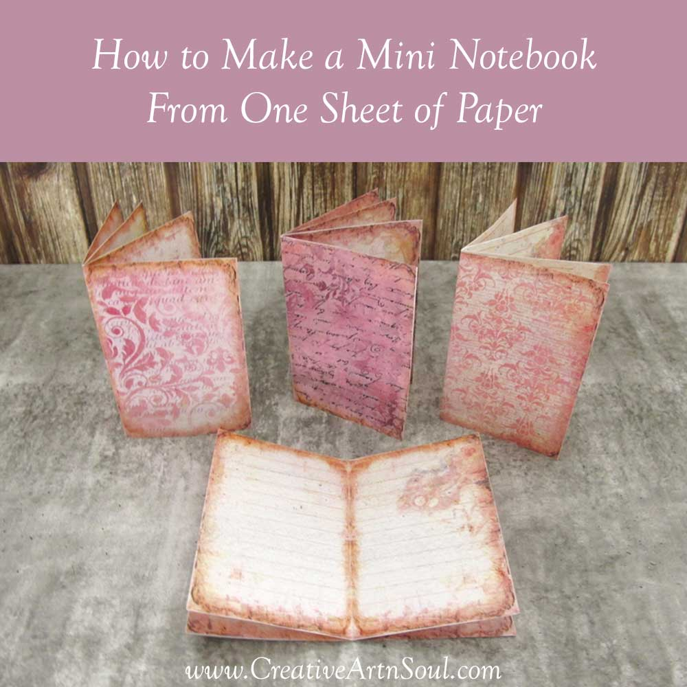 How to Make a One Page Mini Journal