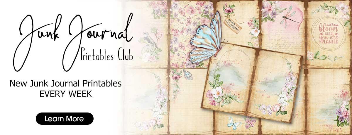 The Junk Journal Printables Club